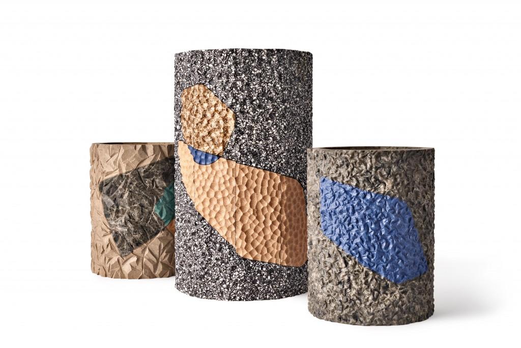 העציצים שעיצב פיליפ מלואה ממשטחי אבן קיסר, טכניקות ידניות שמותחות את גבולות החומר