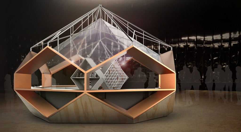 המתחם של סודה סטרים: הכלאה בין חללית ובר עתידני לבין מעבדה