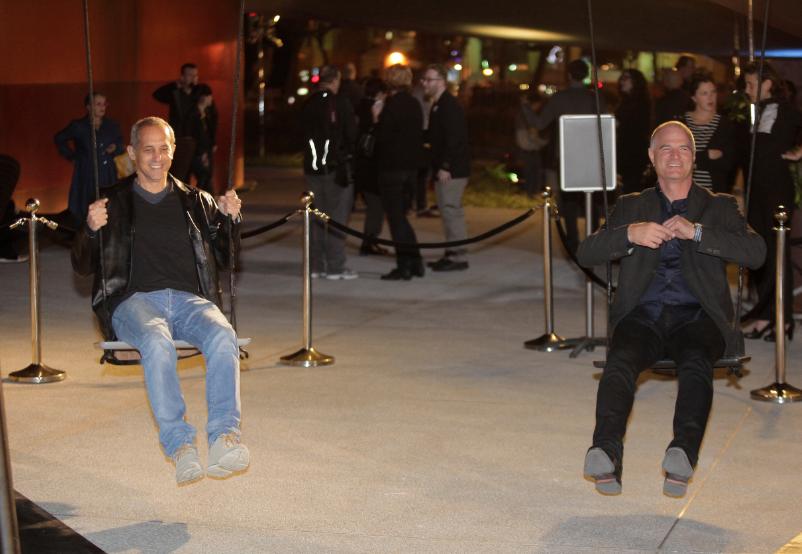 Yosef Shiran, CEO CaesarStone®, and Eli Feiglin VP Marketing inaugurating the exhibit.  Photo: Elad Rummy