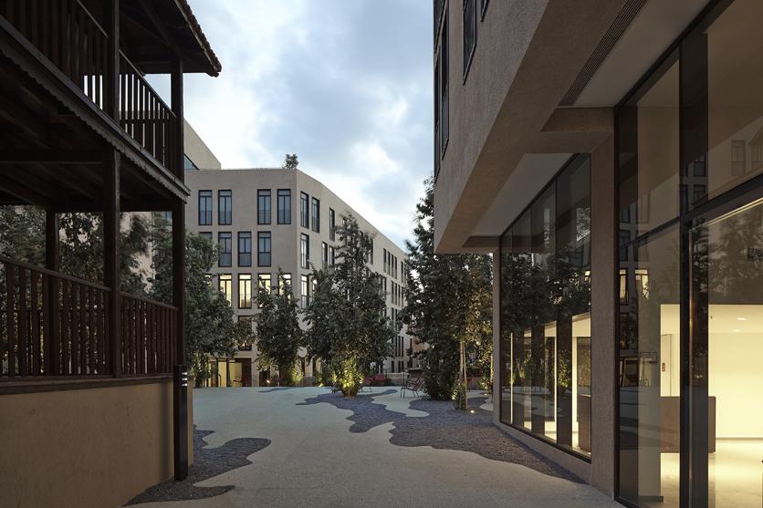 מתחם קרן במושבה האמריקאית, ת״א, בשיתוף בר אוריין אדריכלים. צילום: עמית גירון