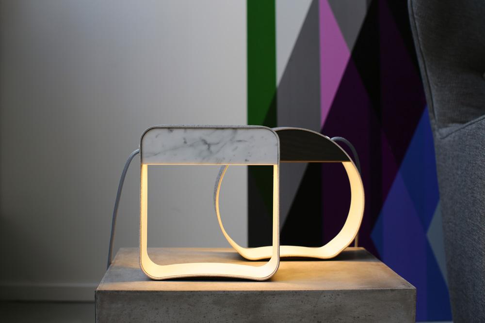 100design Interiors_Designheure_Eau de lumia¦êre_Table lamps square and circle