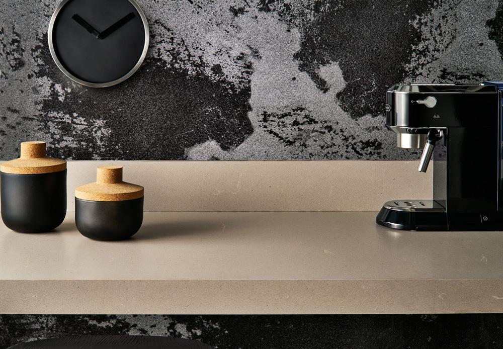 דגם 4004. המראה הגולמי של הבטון במטבח