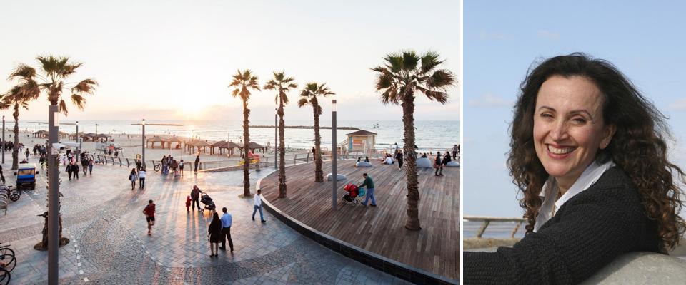 גנית מייזליץ כסיף לצד טיילת החוף ע״ש להט בתל אביב (בצילום של אביעד בר נס)