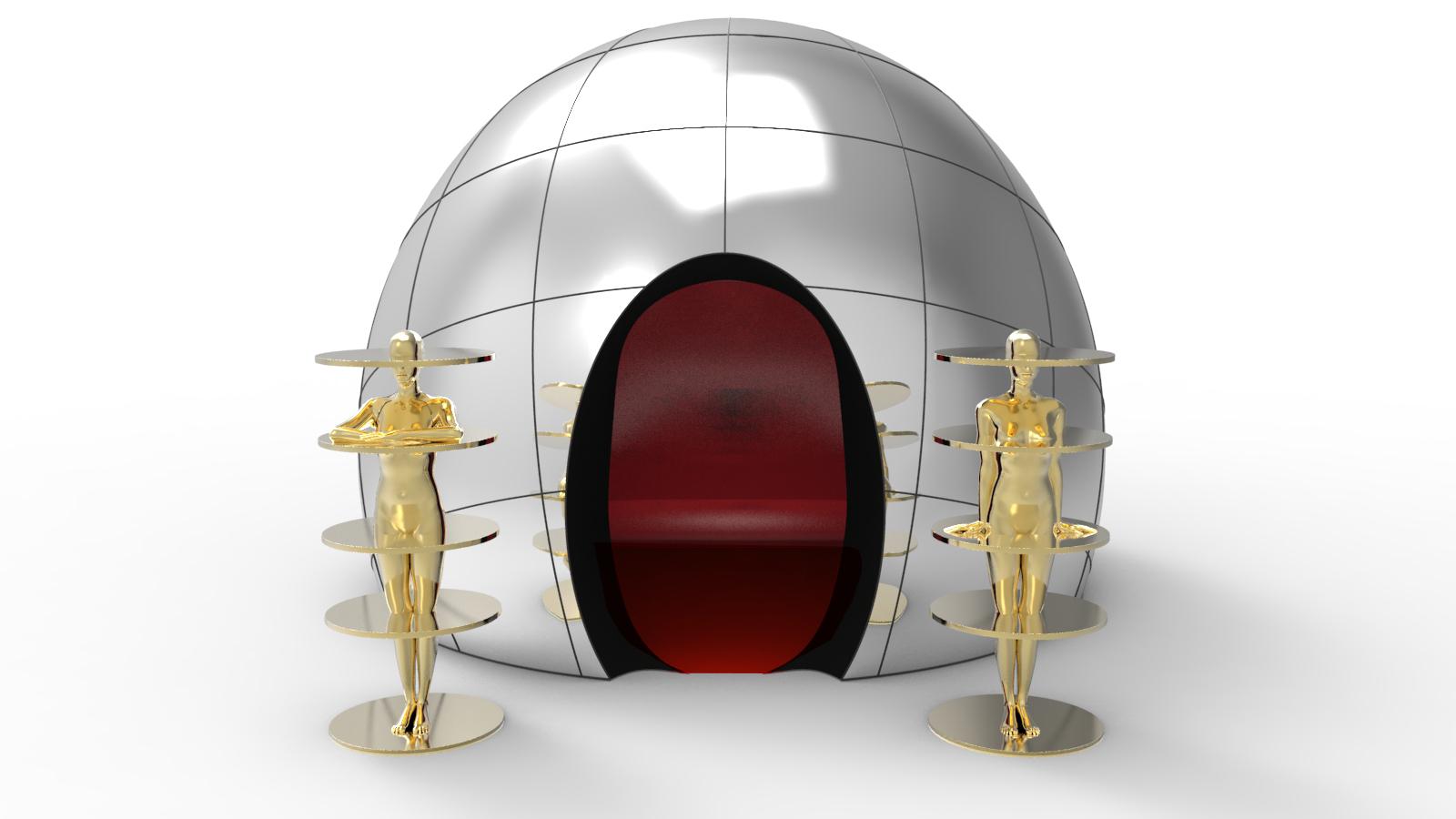 חדר עתידני בעיצוב פביו נובמברה מתוך התערוכה ROOMS. Novel Living