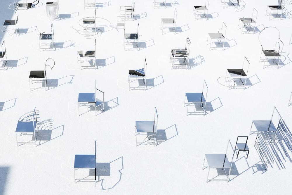50 כסאות מנגה של ננדו. צילום: Takumi Ota