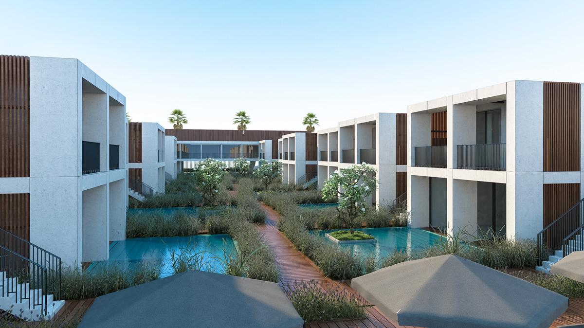 מלון בוטיק בשיתוף פייגין אדריכלים. הדמיה: סטודיו אנדו