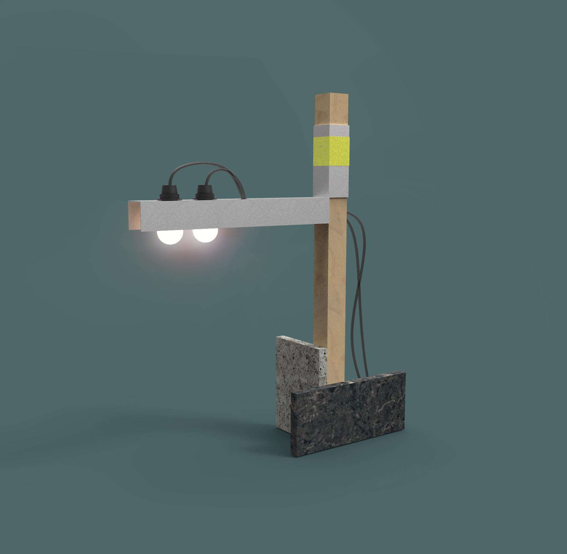 מנורה של איתי אהלי. הדמייה: איתי אהלי